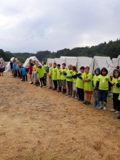 Předávání cen I. běh tábora PIONÝR